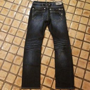 MENS Buckle Salvage Mayhem straight jeans 30L